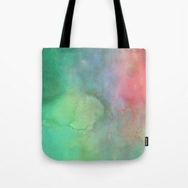 Abstract pink coral teal turquoise watercolor brushstrokes Tote Bag