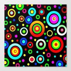 Retro Colorful Dots Canvas Print