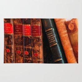 Rustic Antique Library Books Shelf Rug
