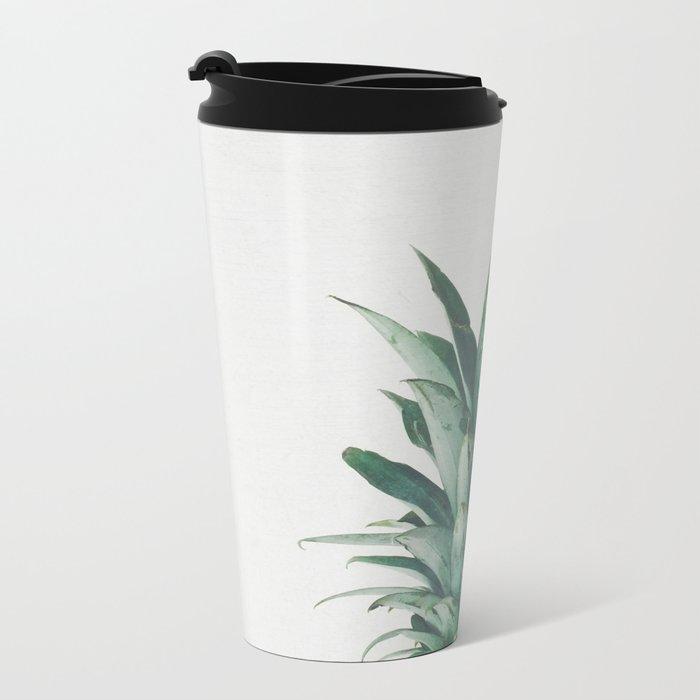 Pineapple Top Metal Travel Mug