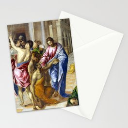 El Greco Christ Healing the Blind Stationery Cards
