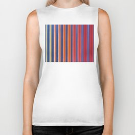 Hot & Cold Stripes Biker Tank