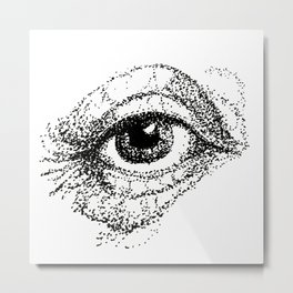 Eye Study, stippling Metal Print