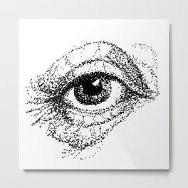 Eye Study, stippling Metal Print