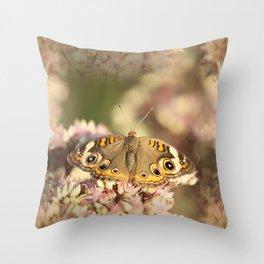 Buckeye Butterfly Macro Throw Pillow