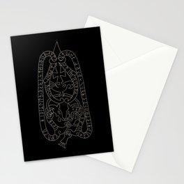 Old Swedish viking runestone Stationery Cards