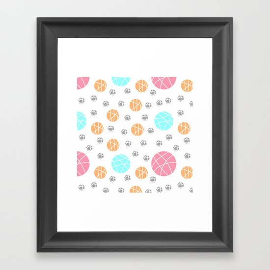Broken Orbs (ColorOnWhite) Framed Art Print
