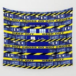 Yellow Line Tardis Wall Tapestry