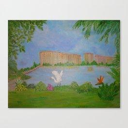 Habitat of Snowy Egret Canvas Print