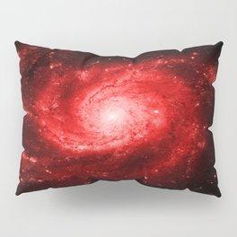 Spiral gAlaxy Red Pillow Sham