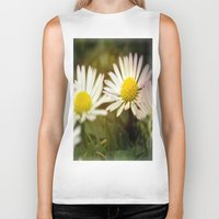 daisies Biker Tanks featuring Daisies by LoRo  Art & Pictures