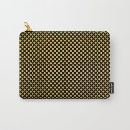 Black and Spicy Mustard Polka Dots Carry-All Pouch