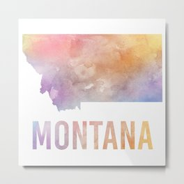 Watercolor State - MT Metal Print