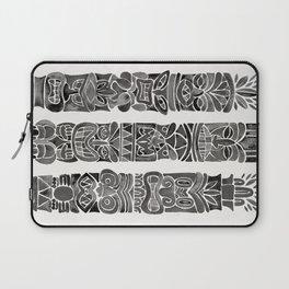 Tiki Totems – Black Laptop Sleeve
