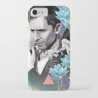 tom hiddleston iPhone & iPod Cases featuring Tom Hiddleston by Yan Ramirez