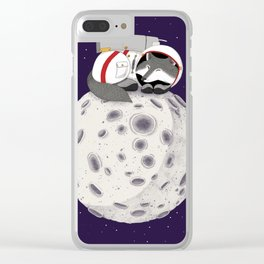 The Wolf and the Moon Clear iPhone Case