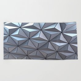 Spaceship Earth Beach Towel