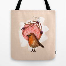 Spring birdy / Nr. 5 Tote Bag