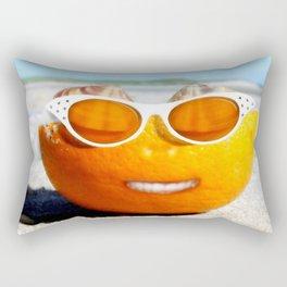 Beached Orange Rectangular Pillow