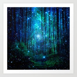 magical path Art Print