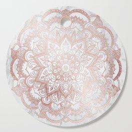 Rose Gold Mandala Star Cutting Board