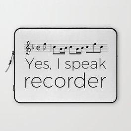 Do you speak recorder? Laptop Sleeve