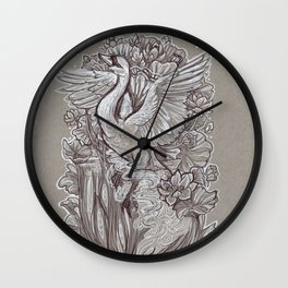 Ascent from the Lotus Forest Wall Clock