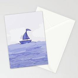 Sail the sea Stationery Cards