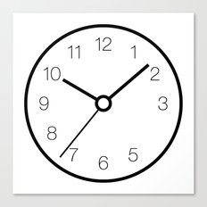 Analog Clock With Missing 4 Set to 10:09:36 Canvas Print
