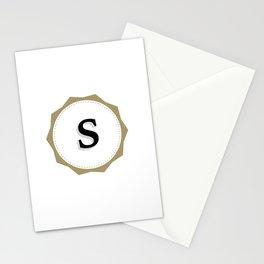 Vintage Letter S Monogram Stationery Cards