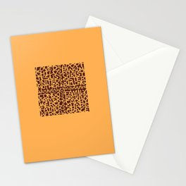 adoption kuba cloth (applique version) Stationery Cards