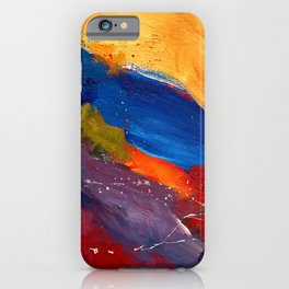 Present In Spirit Abstract Blue Yellow iPhone Case