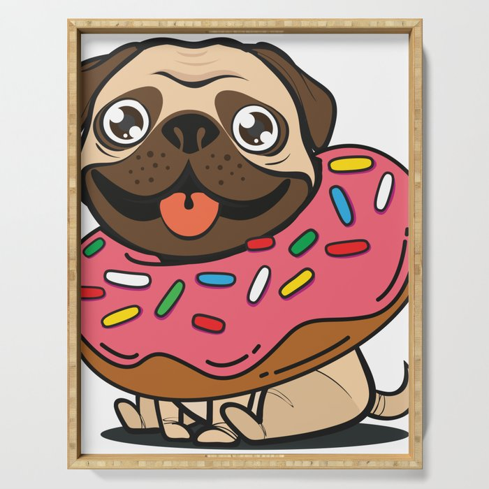 Pug & Donut Serving Tray