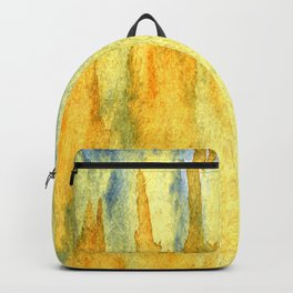 Earth toned abstract Backpack
