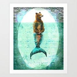 Mer-Bear - West Coast wonders rarely seen Art Print