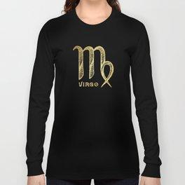 Virgo Zodiac Sign Long Sleeve T-shirt