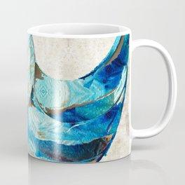 Tropical Blue Beach Art - Nautilus Shell Bleu 2 - Sharon Cummings Coffee Mug