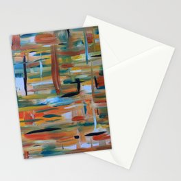 Speeding Metros #OilPainting #Abstract Stationery Cards