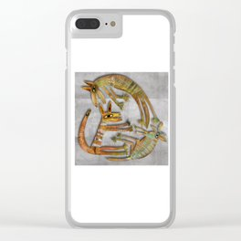 Puppy Playground Clear iPhone Case
