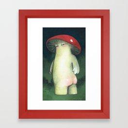 Toadstool Tushie Framed Art Print
