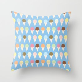 Ice Cream Cones Throw Pillow