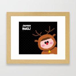 Joyeux Noel - Rudolph Framed Art Print