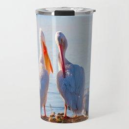Pelican Wooing III Travel Mug