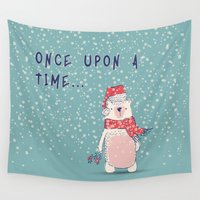 once upon a  time Wall Tapestries featuring Once upon a time...  by bica Studio
