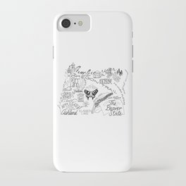 Oregon - Hand Lettered Map iPhone Case