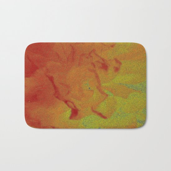 Flower | Flowers | Fading Flower | Red Abstract Bath Mat