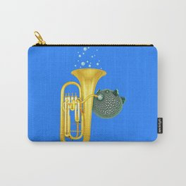 Puffer Fish Playing Tuba Carry-All Pouch