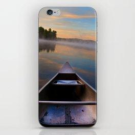 Canoe on Lake Deposit iPhone Skin