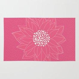 Pink Chrysanthemum Rug