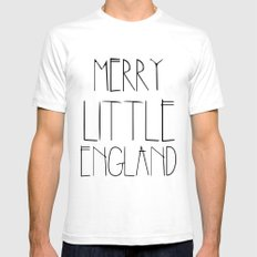 Merry Little England SMALL White Mens Fitted Tee